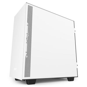 NZXT H510 Tempered Glass Mid-Tower ATX Case - Matte White